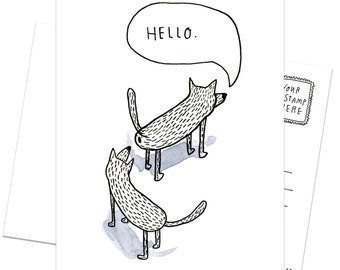 A Case (12-pack) of Postcards - Dog's Hello