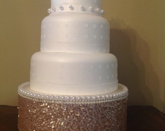 Champagne Pearl Wedding Cake Pop Stand / Candy Buffet Centerpiece / Cupcake Stand