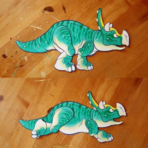 Triceratops Paper Doll DIY and Young Adult Digital Download Dinosaur Craft