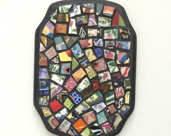 Mixed China Mosaic Plaque - Wall Decor - Hanging