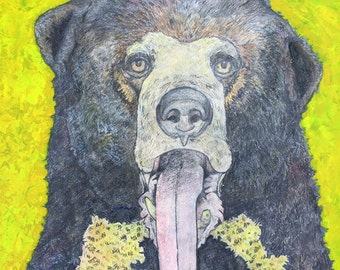 Unframed Reproduction Print of Sun Bear Bile