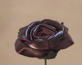 Burgundy Leather Roses. Christmas Gift, Valentine's Day Gift, Leather Anniversary Gift, Birthday Gift, Mother's Day Gift, Wedding