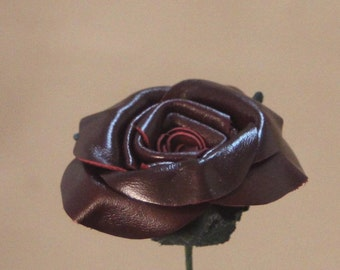 Burgundy Leather Roses. Christmas Gift, Valentine's Day Gift, Leather Anniversary Gift, Birthday Gift, Mother's Day Gift, wedding gift