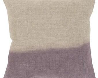 Ombre Pillow, Dip Dyed Pillow, Linen Pillow, Purple Lavender Pillow Cover, Pillow Sham