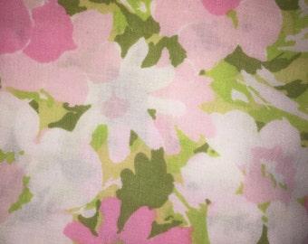 Vintage Full Floral Flat Sheet