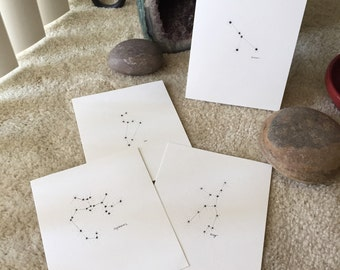 Zodiac Constellation Drawings - single or double!