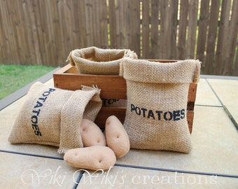 Sack of Felt Food Baby Potatoes