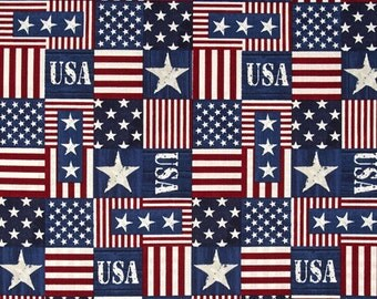 USA, Flag Fabric, Old Glory, Flag Fabric, Red, Timeless Treasures, USA C3853, Patriotic Fabric, American Flag, 01050A