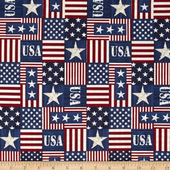 Usa Flag Fabric Old Glory Flag Fabric Red Timeless