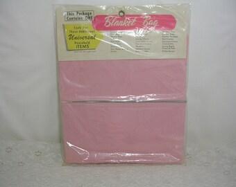 Vintage 1963 Pink Universal Blanket Bag In Package