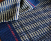 Midnight Stripes Royal Handwoven Tea Towel
