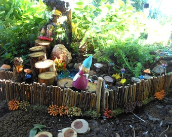 Fairy Garden Fencing-OOAK-Set of 2 Decorative Fences-Use Either Side-Fariy Garden Accessory