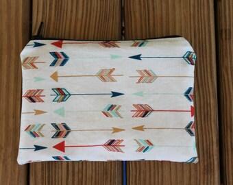 Reusable Snack Bag, Arrows - ZIPPER Snack Bag