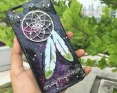 Dreamcatcher case for Iphone 6 /6 plus,  iPhone 5/5s, iPhone  4/4s, Samsung galaxy note 2/3/5, s3/s4/s5 glitter case with your name.