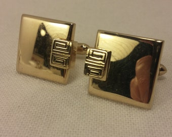 Vintage SWANK Goldtone Cuff Links - Steampunk Couture, Wedding, Men's, Groomsmen Gift, Dad, Valentine, Engineer Gift