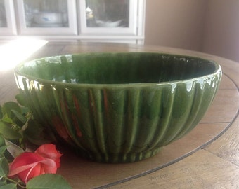 Haeger Green Oval Vintage Planter USA
