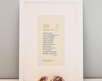 Personalised Golden Wedding Print, Wall Art Print, Golden Anniversary, Golden Anniversary Print, Couple Gift, Anniversary Gift, Gift