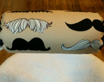 Reversible Car Seat Arm Saver Handle Cushion Black White Mustache with Black Dimple Dot Minky Infant Newborn Baby Boy Accessories ITEM #313