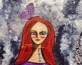 Soulful and Heartfull. Mixed Media Original Art. Original Art for Sale, Original Art Work, Fine Art, Original Painting, Quote Art.