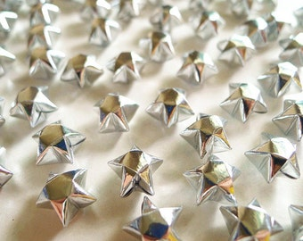 Liquid Silver Origami Lucky Stars -Metallic Silver Wishing Stars/Party Supply/Home Decor/Gift Fillers/Embellishment