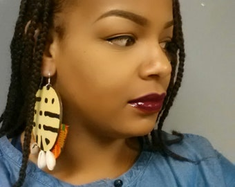 Tewa Kinteh and Mudcloth Earrings