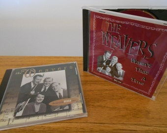 Weavers vintage music CDs.  Best of Decca.  Pete Seeger.