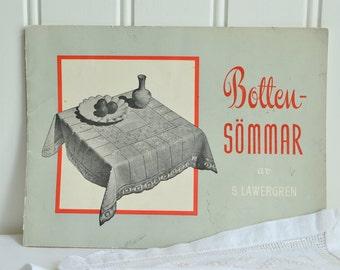 Hardanger pattern booklet, vintage Swedish pattern book