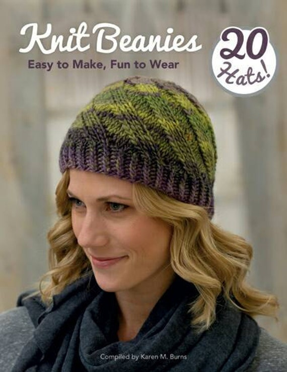 Ready To Ship Knit Beanies Book 20 Hat Knitting Patterns