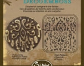 Sizzix DecoEmboss Die - Ikat Pattern by Vintaj
