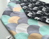 Made to order - Feeding Cover reversible with matching Burping cloth