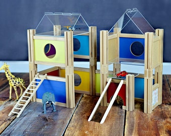 Building Kit DELUXE MODplayhouse Dollhouse Eco-Friendly wooden toy