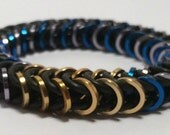 Hanzo Inspired Stretch Box Chain Chainmaille Bracelet