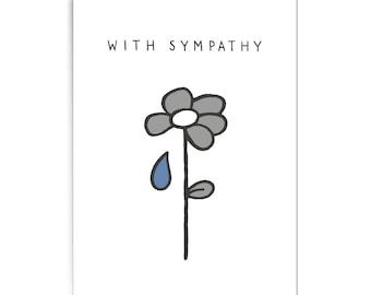 """Sympathy card """"With sympathy"""""""
