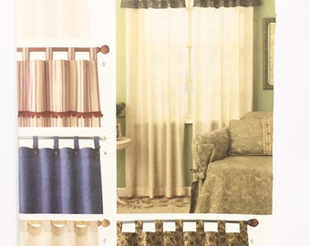 UNCUT Butterick 3281 Tab Top Curtains Sewing Pattern