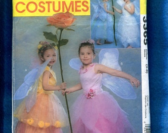 McCalls 3365 Fairy Costumes for Girls Size 3 to 8