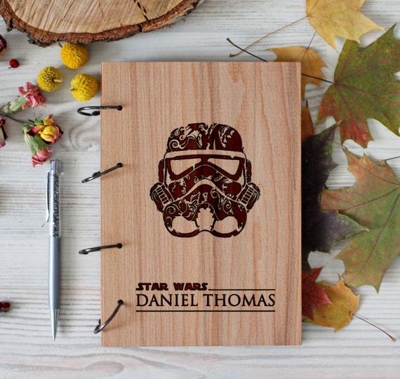 Stars Wars Wooden notebook - Stormtrooper notebook - Custom Notebook - Personalized Engraved
