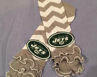 FREE SHIPPING on NFL New York Jets Chevron Leg Warmers Legwarmers Leggings