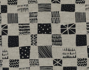 Black and White 2016 - Swatch - Linen/Cotton Canvas - Alexia Abegg for Cotton + Steel - (5060-12) - 1/2 Yard