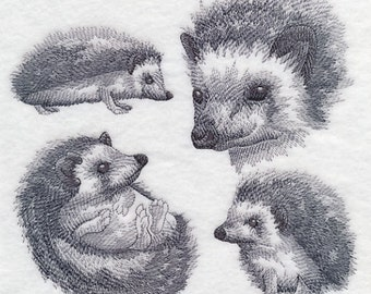 Custom Embroidered Hedgehog Sweatshirt  Sweatshirt S-3XL