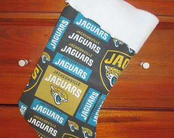Jacksonville Jaguars Handmade Christmas Stocking