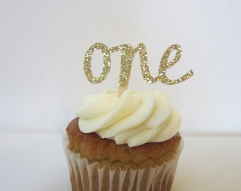 Age Cupcake Topper ~ ONE ~ TWO ~ THREE ~ Your Choice of Number