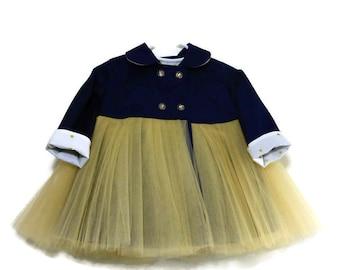 Tutu Coat, Toddler Coat, Girls Winter Coat, Toddler Spring Coat, Toddler Fall Jacket