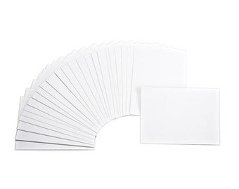25 White Artist Trading Cards, 2.5 x 3.5 Inches, Blank White Paper Note Cards