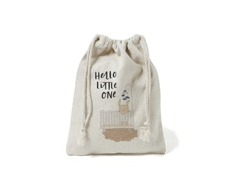 Hello Little One BABY Canvas Gift Bag