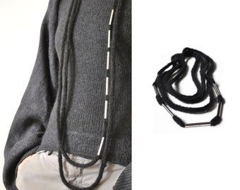 Statement necklace - fiber silver necklace - statement necklace - modern necklace - hipster - gift ideas for her