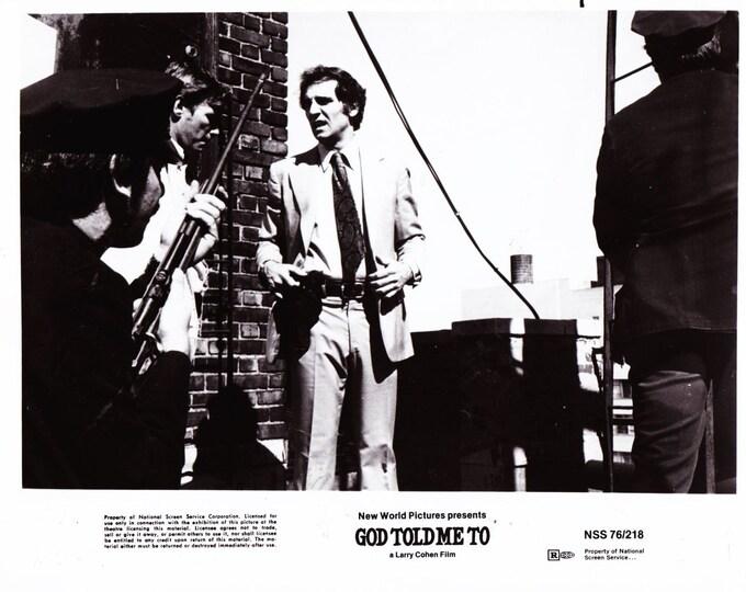 1976 Tony Lo Bianco 8x10 Black and White Photograph - Studio Promotion - God Told Me To - Movie Promotional Photo - Hollywood - Critics