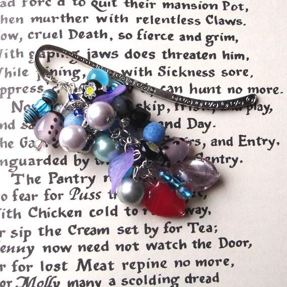 Purple Bookmark, Boho Bookmark, Unique Bookmark, Cluster Bookmark, Teacher Gift, Summer Finds, Payday Treat, 21st Birthday Gift, Mum Gift