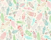 Snuggle Flannel Prints - Aztec Feathers Pastel - Sold by the Yard