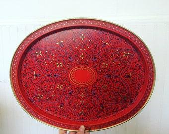 Beautiful Ornate Design Metal Tray