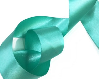 SALE Day Green Turquoise Satin Ribbon Trim for scrapbook, card making, wedding decoration, gift wrapping